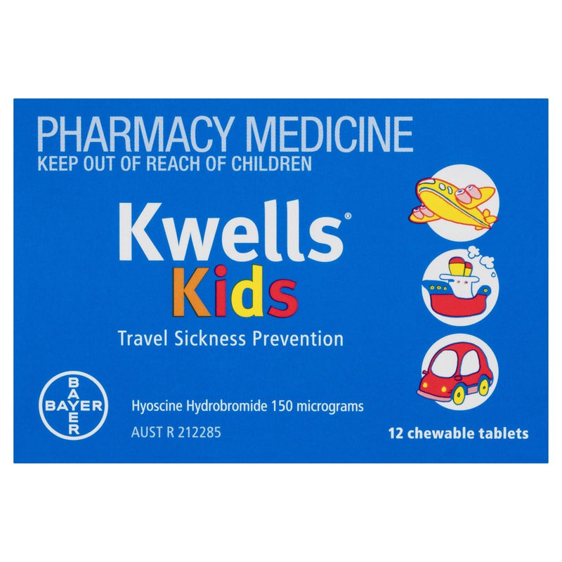 Kwells Kids Travel Sickness 12 Chewable Tablets - Vital Pharmacy Supplies