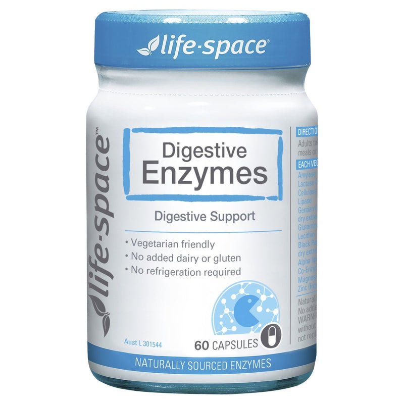 Life-Space Digestive Enzymes 60 Capsules - Vital Pharmacy Supplies