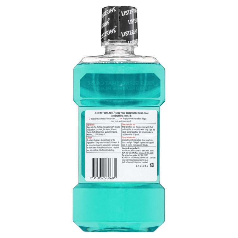 Listerine Cool Mint Mouthwash 500mL - Vital Pharmacy Supplies