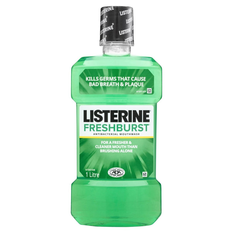 Listerine FreshBurst Antibacterial Mouthwash 1L - Vital Pharmacy Supplies