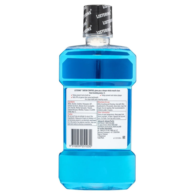 Listerine Tartar Control Mouthwash 1L - Vital Pharmacy Supplies