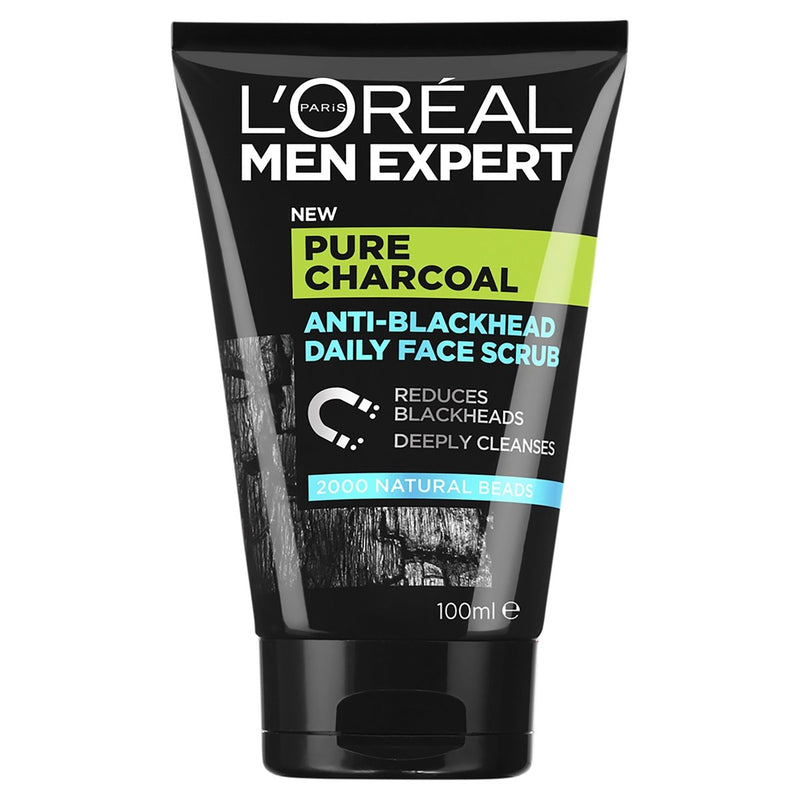 L'Oréal Paris Men Expert Pure Power Scrub 100mL - Vital Pharmacy Supplies