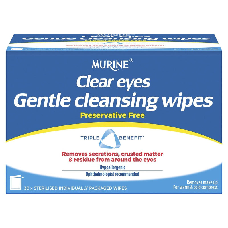 Murine Clear Eyes Wipes 30 Pack - Vital Pharmacy Supplies
