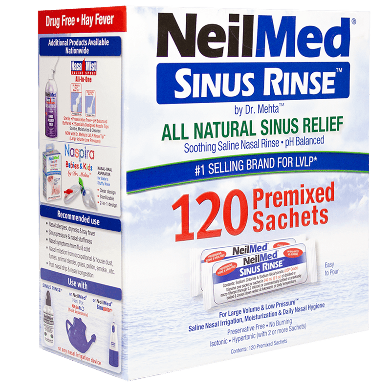 NeilMed Sinus Rinse 120 Regular Premixed Packets - Vital Pharmacy Supplies