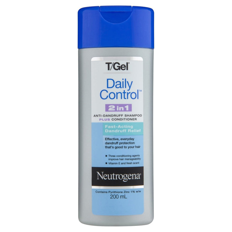 Neutrogena T/Gel Daily Control 2 in 1 Shampoo Plus Conditioner 200 mL - Vital Pharmacy Supplies