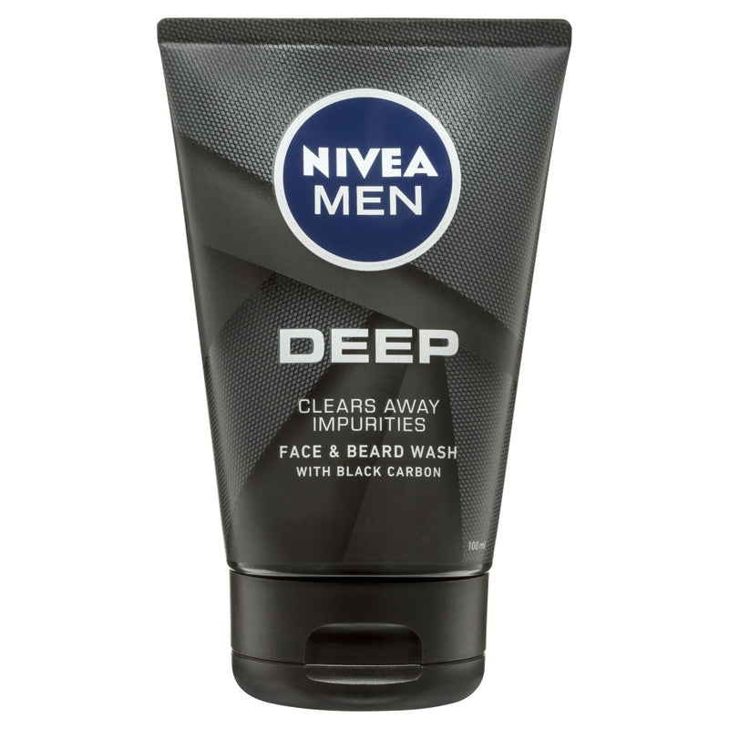 Nivea Men Deep Face Wash 100mL - Vital Pharmacy Supplies