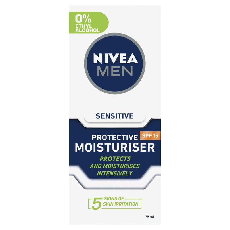Nivea Men Sensitive Moisturiser SPF15 75ml - Vital Pharmacy Supplies