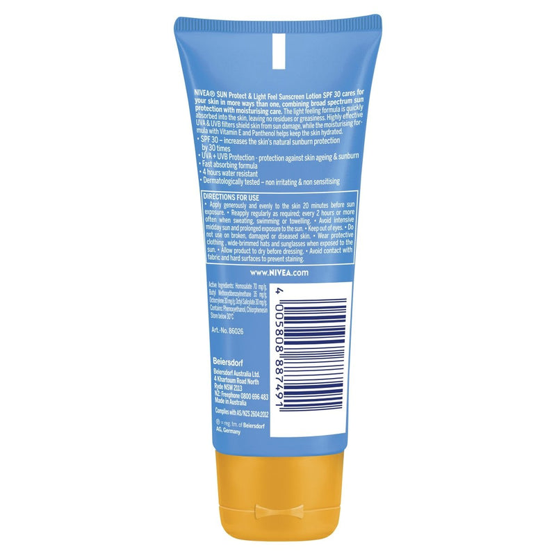 Nivea Sun SPF 30+ Sunscreen Lotion 100mL - Vital Pharmacy Supplies