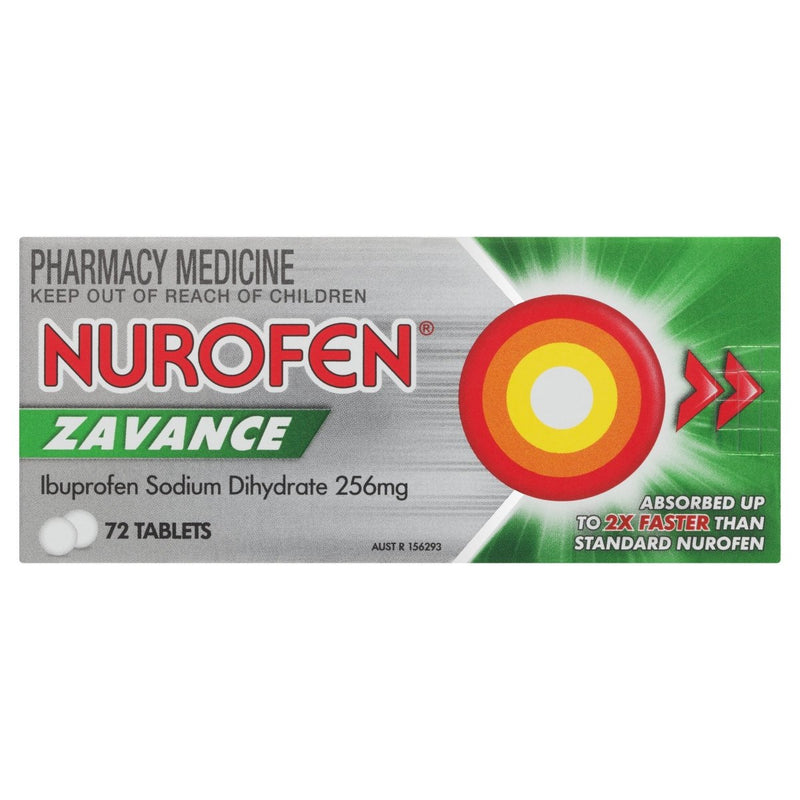 Nurofen Zavance Tablets 72 Tablets - Vital Pharmacy Supplies