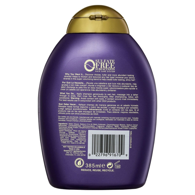 OGX Biotin & Collagen Shampoo 385mL - Vital Pharmacy Supplies
