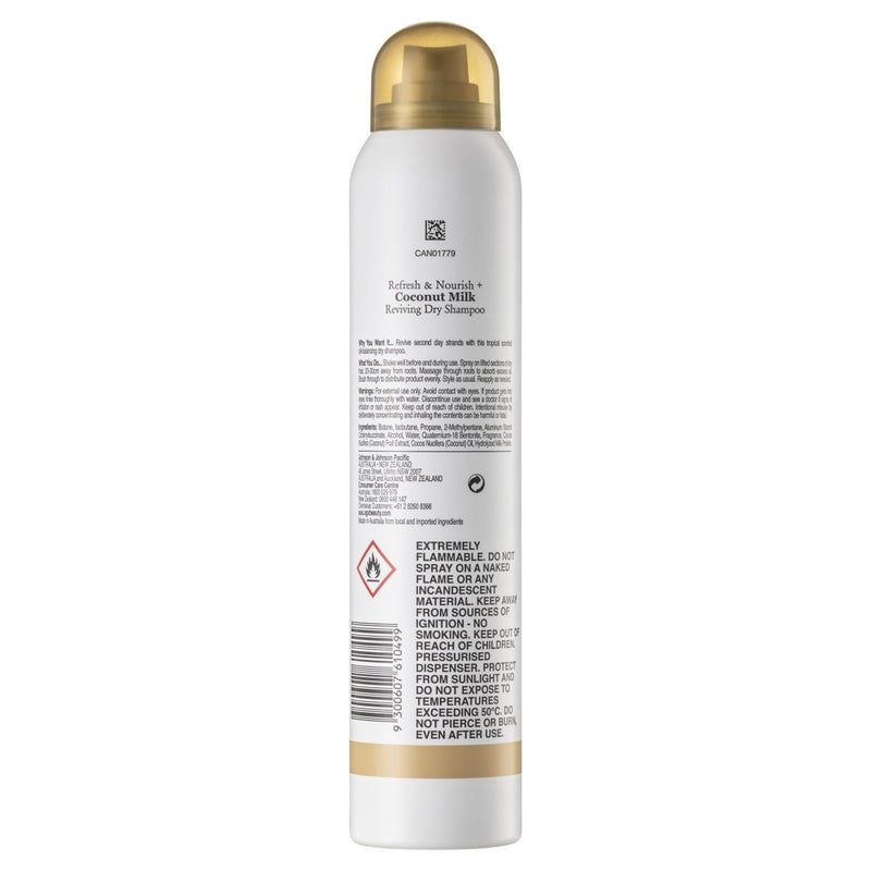 OGX Refresh & Nourish Dry Shampoo 200mL - Vital Pharmacy Supplies