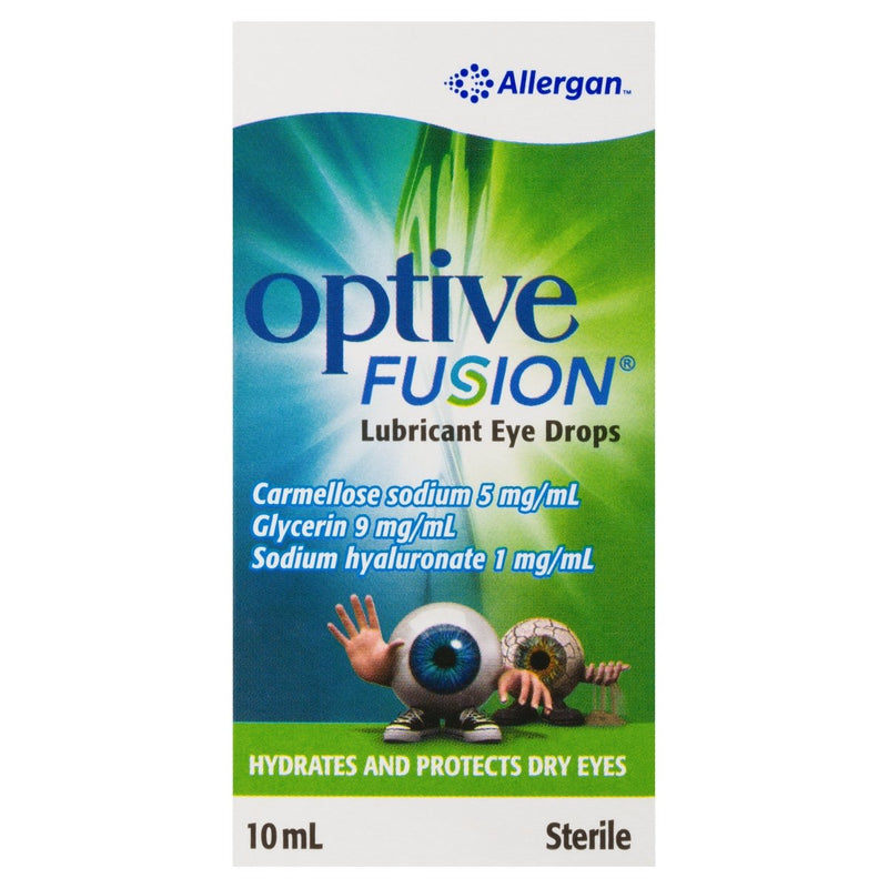 Optive Fusion Lubricant Eye Drops 10mL - Vital Pharmacy Supplies