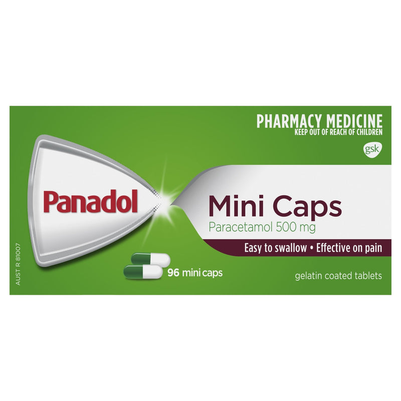 Panadol Mini Caps 96 Mini Caps - Vital Pharmacy Supplies