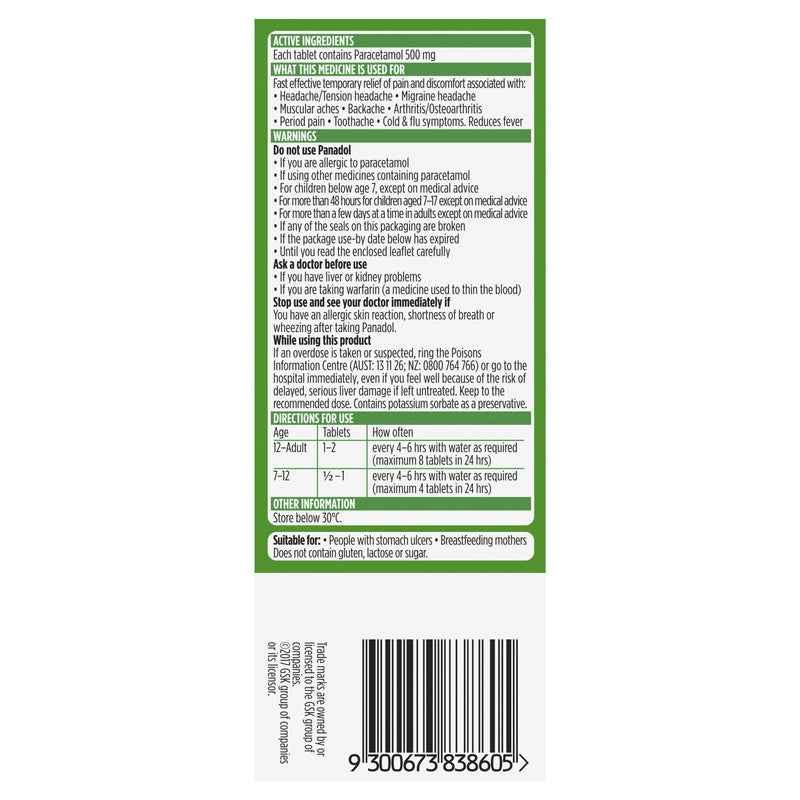 Panadol Pain Relief 20 Pack - Vital Pharmacy Supplies