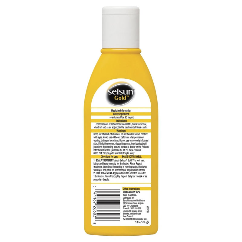 Selsun Gold 200mL - Vital Pharmacy Supplies