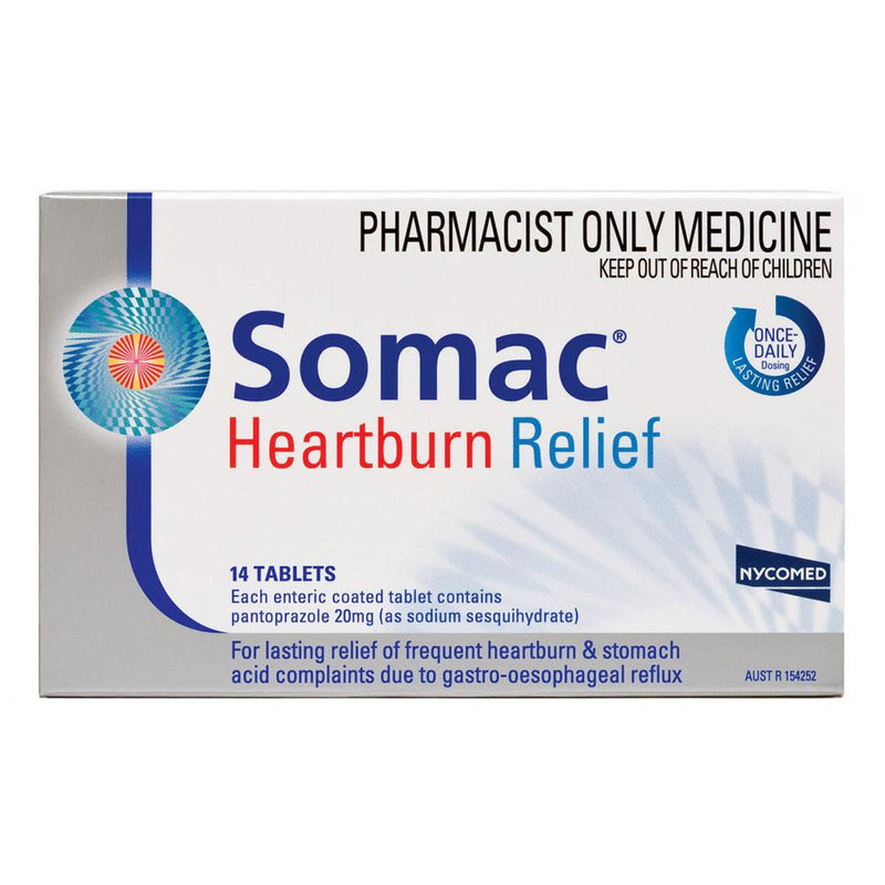 Somac Heartburn Relief 7 Tablets - Vital Pharmacy Supplies