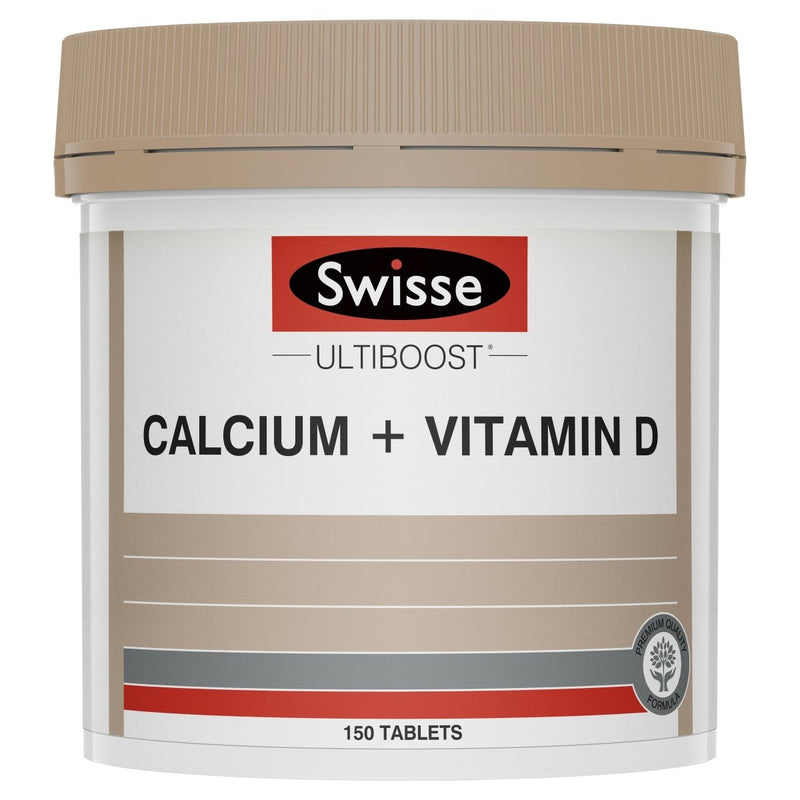 Swisse Ultiboost Calcium + Vitamin D 150 Tablets - Vital Pharmacy Supplies