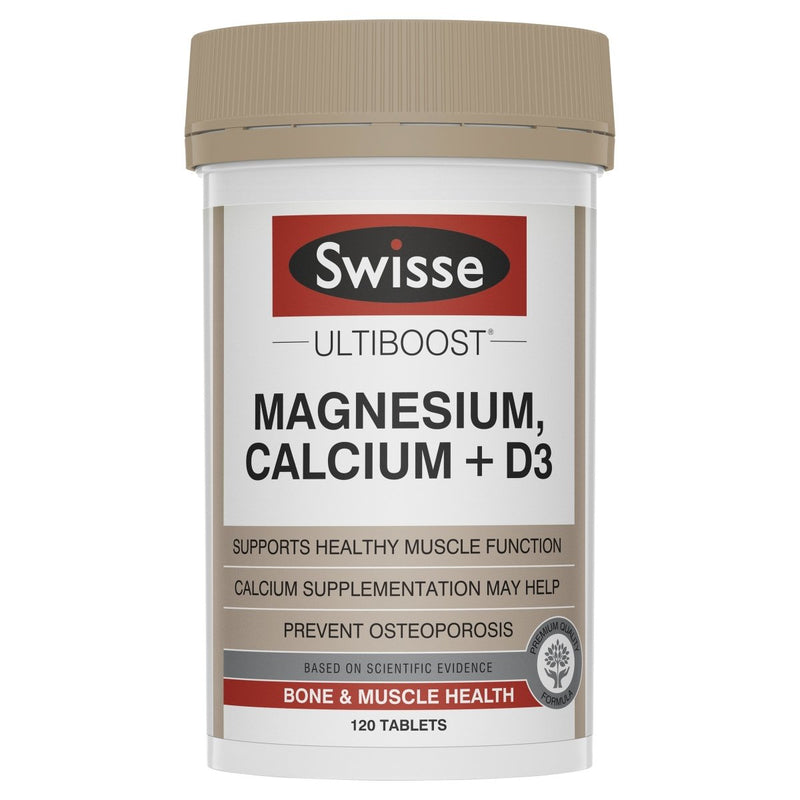 Swisse Ultiboost Magnesium Calcium + D3 120 Tablets - Vital Pharmacy Supplies