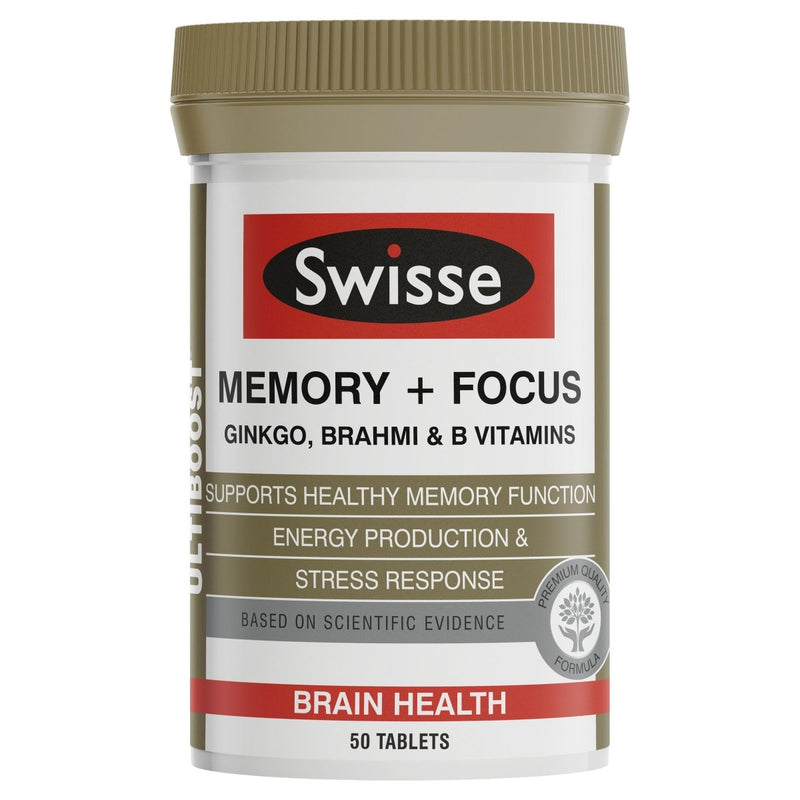 Swisse Ultiboost Memory + Focus 50 Tablets - Vital Pharmacy Supplies