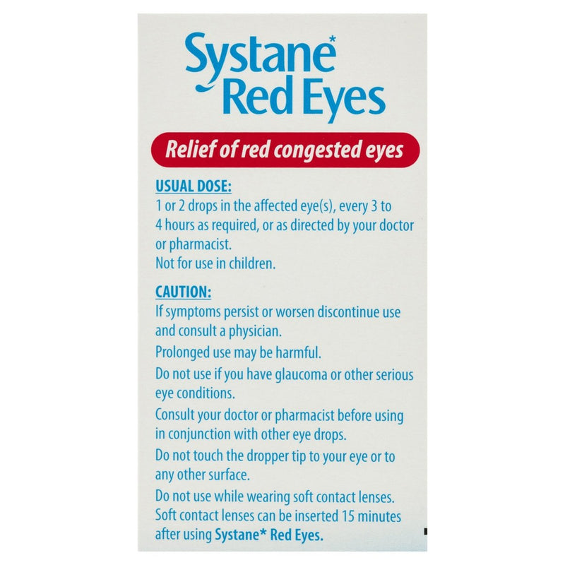 Systane Red Eyes Eye Drops 15mL - Vital Pharmacy Supplies