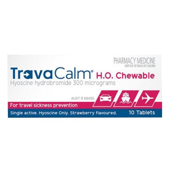 TravaCalm H.O. Chewable 10 Tablets - Vital Pharmacy Supplies