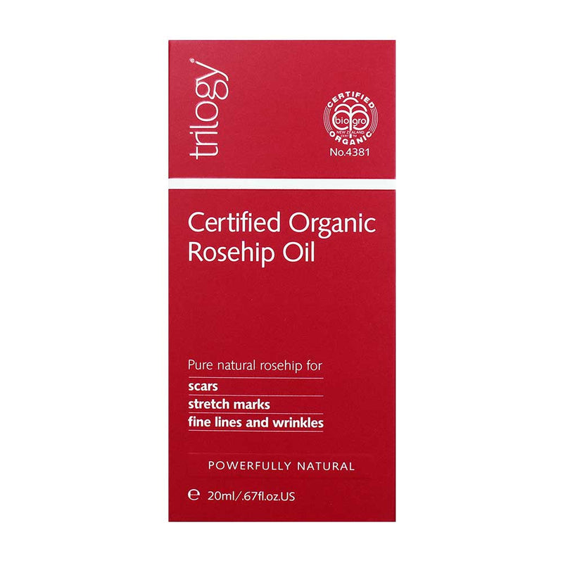 Trilogy Certified Organic Rosehip Oil 20mL - Vital Pharmacy Supplies