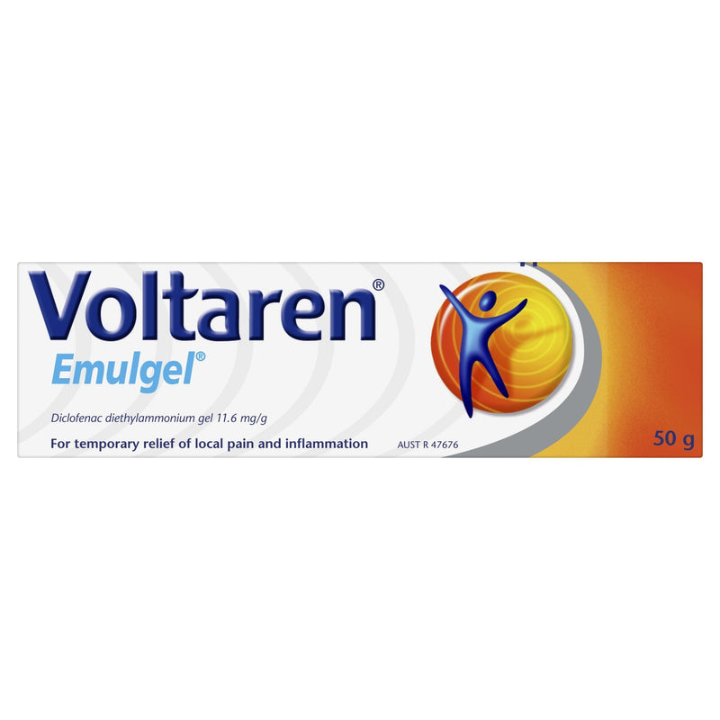 Voltaren Emulgel, Muscle and Back Pain Relief 50g - Vital Pharmacy Supplies