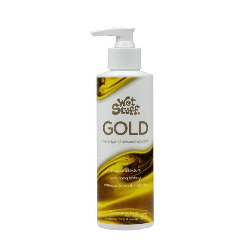 Wet Stuff Gold Water Based Lubricant 270g - Vital Pharmacy Supplies