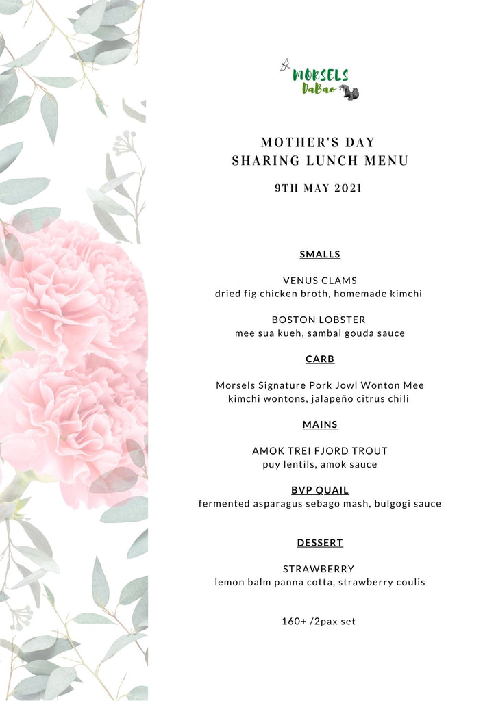 Mother's Day 2021 Special Sharing Set Menu