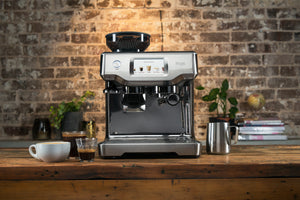 Brushed Stainless Steel Sage the Barista Touch in a lifestyle setting