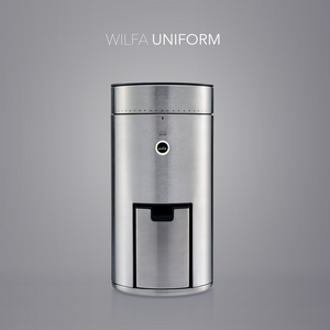 Wilfa SVART Uniform Coffee Grinder - WSFB-100S - on grey background