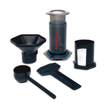 Load image into Gallery viewer, Aeropress coffee maker kit including mirco-filters, utensils and filters