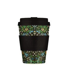 Load image into Gallery viewer, William Morris Blackthorn 12oz Ecoffee Reusable Bamboo Coffee Cup with Lid