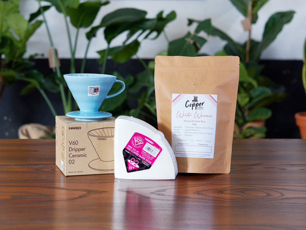 Hario Ceramic V60 + Filters + Speciality Coffee Gift Set Bundle