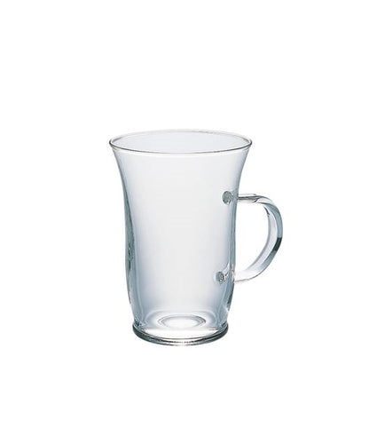 Hario Hot Glass Latte Coffee Cup | 240ml Glass Coffee Mug