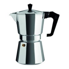 Load image into Gallery viewer, Pezzetti Moka Pot Coffee Maker - 6 Cup Espresso - Silver Aluminium