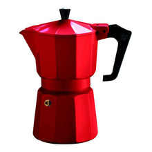 Load image into Gallery viewer, Red Pezzetti Moka Pot Coffee Maker - 6 Cup Espresso