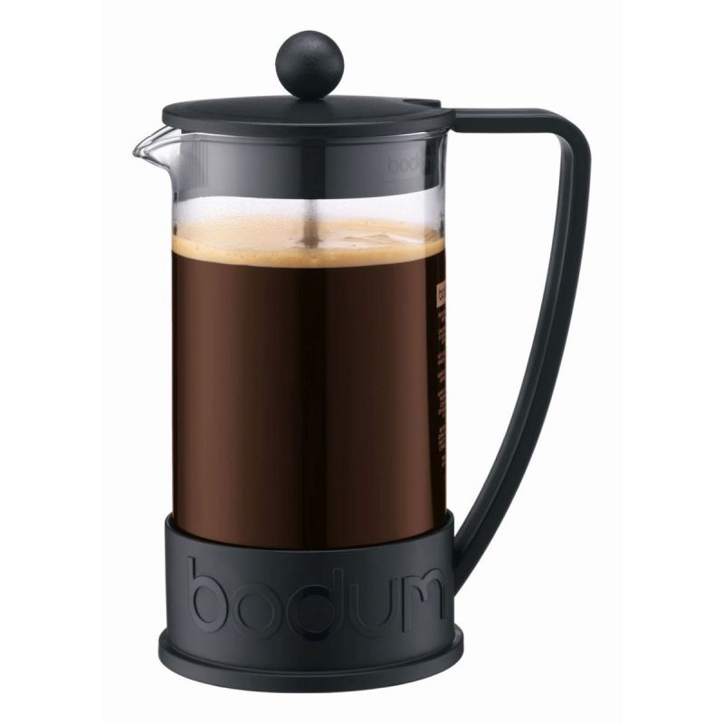 Bodum Brazil Cafetiere - 8 Cup French Press Coffee Maker (1L) - Black