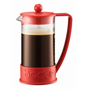 Bodum Brazil Cafetiere - 8 Cup French Press Coffee Maker (1L) - Red