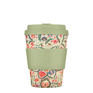 Papafranco Reusable Bamboo 12oz Ecoffee Cup with Lid
