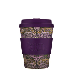 William Morris Peacock 12oz Ecoffee Reusable Bamboo Coffee Cup with Lid