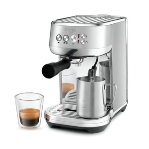 Brushed stainless steel Sage the Bambino Plus SES500BSS Coffee Machine