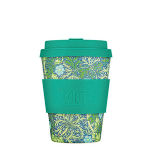 William Morris Seaweed Marine 12oz Ecoffee Reusable Bamboo Coffee Cup with Lid