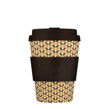 Load image into Gallery viewer, Threadneedle Reusable Bamboo 12oz Ecoffee Cup with Lid