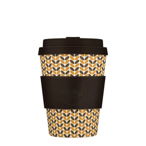 Threadneedle Reusable Bamboo 12oz Ecoffee Cup with Lid