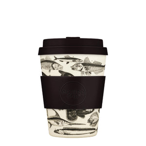 Toolondo Fisman Reusable Bamboo 12oz Ecoffee Cup with Lid