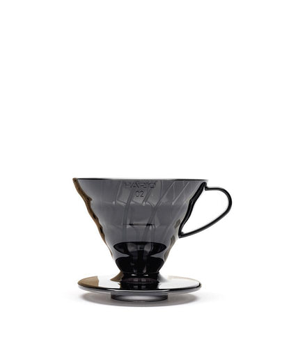 Black Hario V60 Plastic 02 Coffee Dripper Kit, Pour Over Filter Coffee Maker
