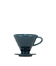 Load image into Gallery viewer, Indigo Blue Hario V60 Ceramic Coffee Dripper - Pour Over Filter, Drip Coffee Maker