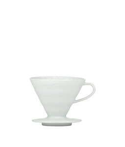 Matt White Hario V60 Ceramic Coffee Dripper - Pour Over Filter, Drip Coffee Maker