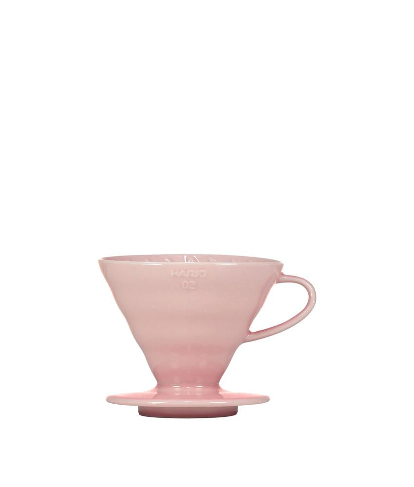 Pink Hario V60 Ceramic Coffee Dripper - Pour Over Filter, Drip Coffee Maker